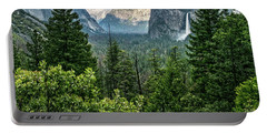 Last Light For Tunnel View Portable Battery Charger by Ryan Weddle