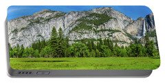Yosemite West Valley Meadow Panorama #2 Portable Battery Charger