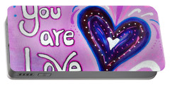 You Are Love Purple Heart Portable Battery Charger