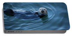 Portable Battery Charger featuring the photograph You Otter Take My Picture, Lady by Lora Lee Chapman