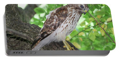 Young Red Shouldered Portable Battery Charger