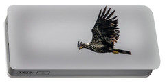 Young Eagle In Flight 07 Portable Battery Charger