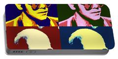 Young Elton John Pop Art Poster Portable Battery Charger