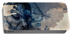 Portable Battery Charger featuring the mixed media Young Gifted And Black - Nina Simone  by Paul Lovering