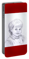 Young Girl Portable Battery Charger by Francine Heykoop