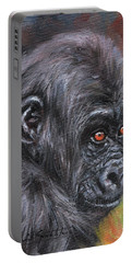 Young Gorilla Portrait Portable Battery Charger