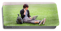 Young Japanese Man Traveling, Working In New York 15041418 Portable Battery Charger