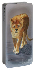 Young Male Lion Portable Battery Charger