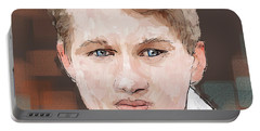 Young Man Portable Battery Charger by Debra Baldwin