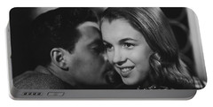Portable Battery Charger featuring the photograph Young Marilyn Monroe by R Muirhead Art