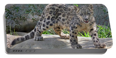 Young Snow Leopard Portable Battery Charger
