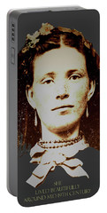 Young Woman Of Olden Times Portable Battery Charger