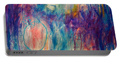 Portable Battery Charger featuring the painting Your Secret Is Safe With Me by Tracy Bonin