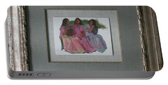 Youthful  Beauties Oil On Porcelain Portable Battery Charger