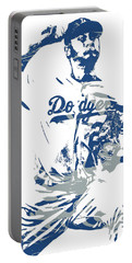 Yu Darvish Los Angeles Dodgers Pixel Art 5 Portable Battery Charger