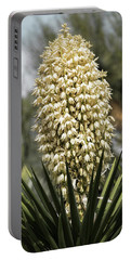 Portable Battery Charger featuring the photograph Yucca Flowers In Bloom  by Saija Lehtonen