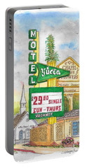Yucca Motel And Little Chapel Of The Flowers, Las Vegas, Nevada Portable Battery Charger by Carlos G Groppa