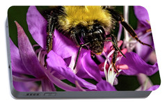 Portable Battery Charger featuring the photograph Yummy Pollen by Darcy Michaelchuk
