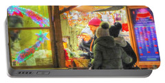 Portable Battery Charger featuring the pyrography Yury Bashkin New Year Sale by Yury Bashkin