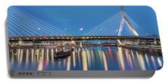 Zakim Bridge And Charles River At Dawn Portable Battery Charger
