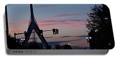 Zakim Bridge At Sunset Portable Battery Charger