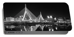 Zakim Bridge From Lovejoy Wharf Portable Battery Charger