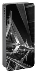Zakim Bridge From Under The Leverett Connector Bridge Portable Battery Charger