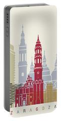 Zaragoza Skyline Poster Portable Battery Charger