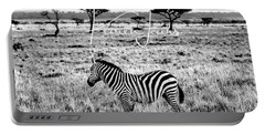 Zebra And Friend Portable Battery Charger by Karen Lewis
