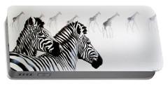 Zebra And Giraffe Portable Battery Charger