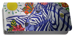 Zebra And Things Portable Battery Charger
