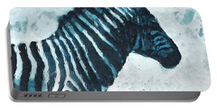 Zebra- Art By Linda Woods Portable Battery Charger