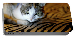 Zebra Cat Portable Battery Charger
