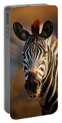 Zebra Close-up Portrait Portable Battery Charger