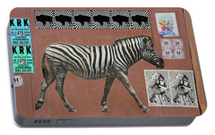 Portable Battery Charger featuring the photograph Zebra Collage by Art Block Collections