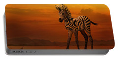 Zebra Fawn  Portable Battery Charger