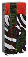 Zebra Guitar Rendering Portable Battery Charger by Bill Cannon