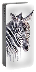 Zebra Head Portable Battery Charger by Marian Voicu