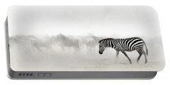 Zebra In Dust Of Africa Portable Battery Charger