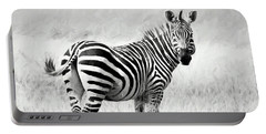 Zebra In The African Savanna Portable Battery Charger