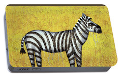 Zebra Portable Battery Charger by Kelly Jade King