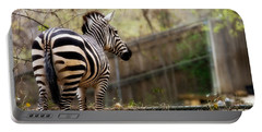 Portable Battery Charger featuring the photograph Zebra by Lana Trussell