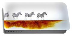Zebra Landscape - Original Artwork Portable Battery Charger