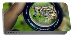 Zebra Lens Portable Battery Charger