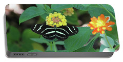 Zebra Longwing Butterfly Heliconius Charitonia Portable Battery Charger