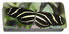 Zebra Longwing Butterfly Portable Battery Charger by Dora Sofia Caputo Photographic Art and Design