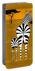 Zebra Mare With Baby Portable Battery Charger