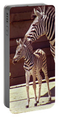 Zebra Mom And Baby Portable Battery Charger