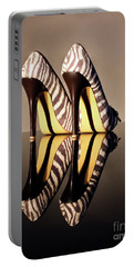Portable Battery Charger featuring the photograph Zebra Print Stiletto by Terri Waters
