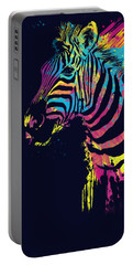 Zebra Splatters Portable Battery Charger